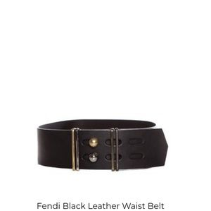 Black fendi waist belt